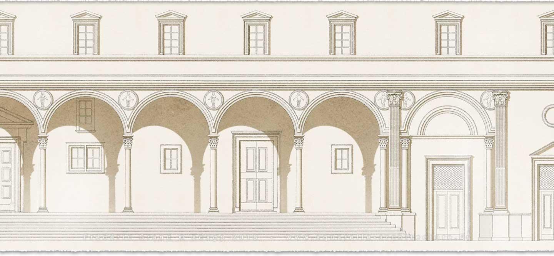 Aquarelle en architecture rénovation logis du Bon Saint-Jacques MORET-SUR-LOING