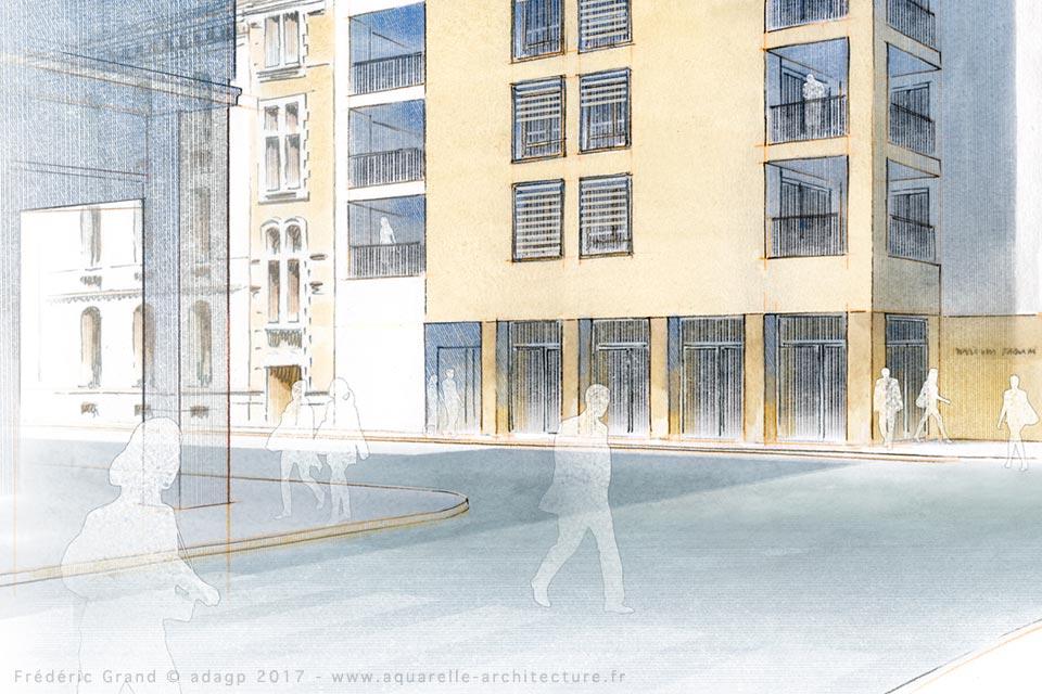 Réhabilitation et construction de logements et commerces - VALENCE (26)