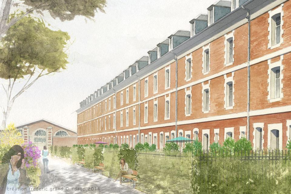 Histoire et Patrimoine immobilier Cadence Architectes rénovation caserne Schramm Arras