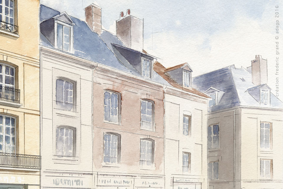 Aquarelle en architecture projets logements dieppe for Architecte dieppe