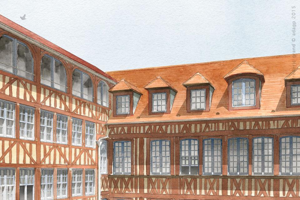 Histoire et Patrimoine immobilier Lemonnier Architecte rénovation manufacture houiller Elbeuf