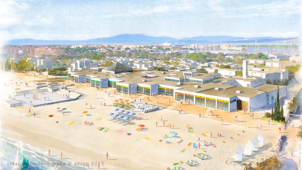 Aquarelle en architecture projets r sidence de vacance - Residence de vacances gedney architecte ...