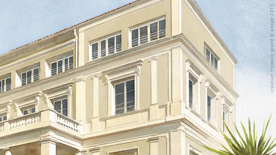 aquarelle en architecture du patrimoine villa les. Black Bedroom Furniture Sets. Home Design Ideas
